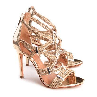 b1ed4a634 SANDÁLIA TRANÇA DOURADA - Schutz | LifeStyle | Shoes Lover ...