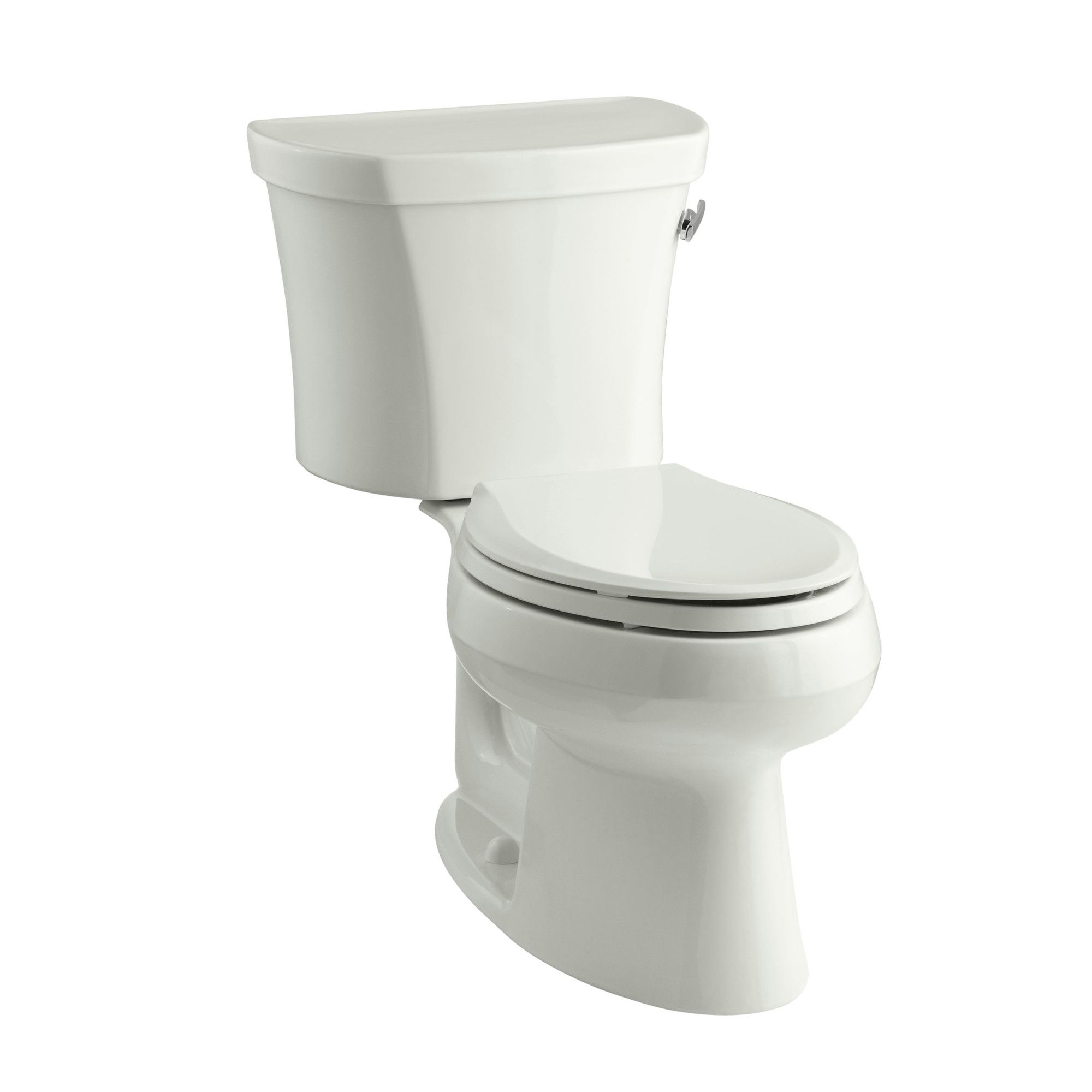 Wellworth Two-Piece Elongated 1.28 GPF Toilet with Class Five Flush Technology, Right-Hand Trip Lever and Insuliner Tank Liner