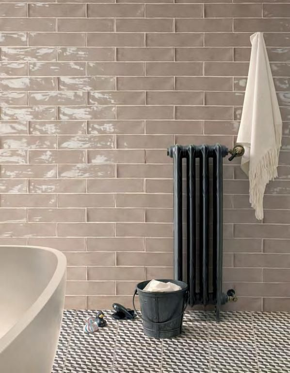 Peronda Poitiers Latte Glossy Subway Tile Arley