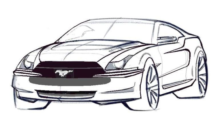 new mustang coloring pages - Mustang Coloring Pages