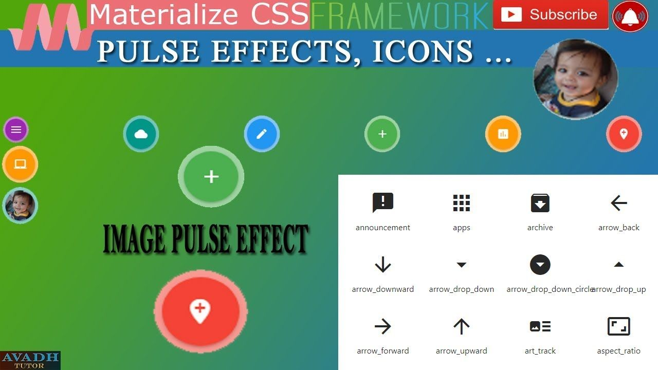 Pulse Effect Pulse Effect Materialize Css Materialize Css