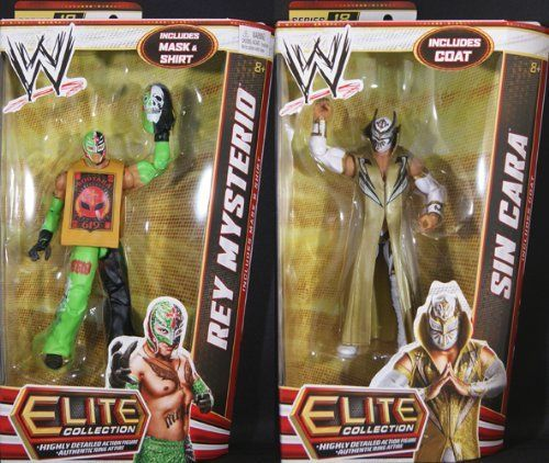 **PACKAGE DEAL** SIN CARA & REY MYSTERIO - WWE ELITE 18 MATTEL TOY WRESTLING ACTION FIGURES by MATTEL. $34.99. Rey Mysterio - Elite 18. Sin Cara - Elite 18. This is a PACKAGE DEAL!. **PACKAGE DEAL** SIN CARA & REY MYSTERIO - WWE ELITE 18 MATTEL TOY WRESTLING ACTION FIGURES