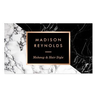 Makeup artist fashionable mixed black white marble pack of standard makeup artist fashionable mixed black white marble pack of standard business cards reheart Image collections