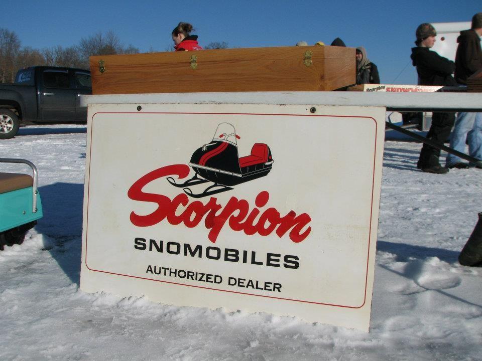 Scorpion Dealer Sign 1969 Scorpion Snowmobiles Scorpion Signs