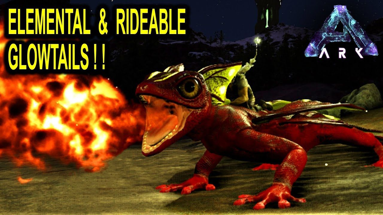 ⚡️ARK EPIC ELEMENTAL GLOW TAILS YOU CAN RIDE!! Rideable