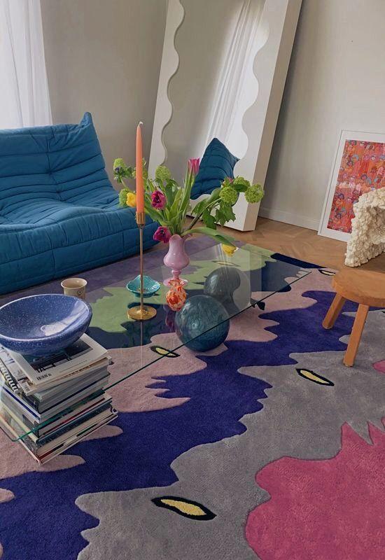 Retro style home serie colorful