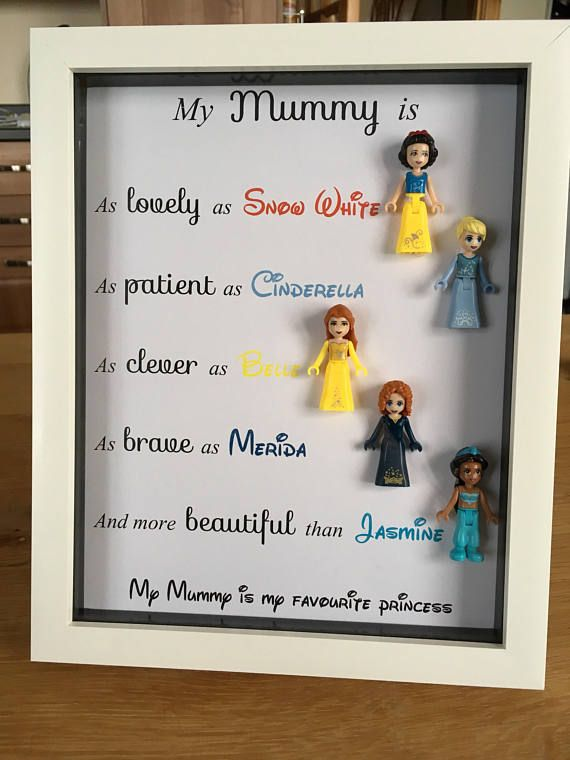 Diy Christmas Gifts For Mom From Daughter.Disney Princess Lego Style Figure Mummy Princess Box Frame