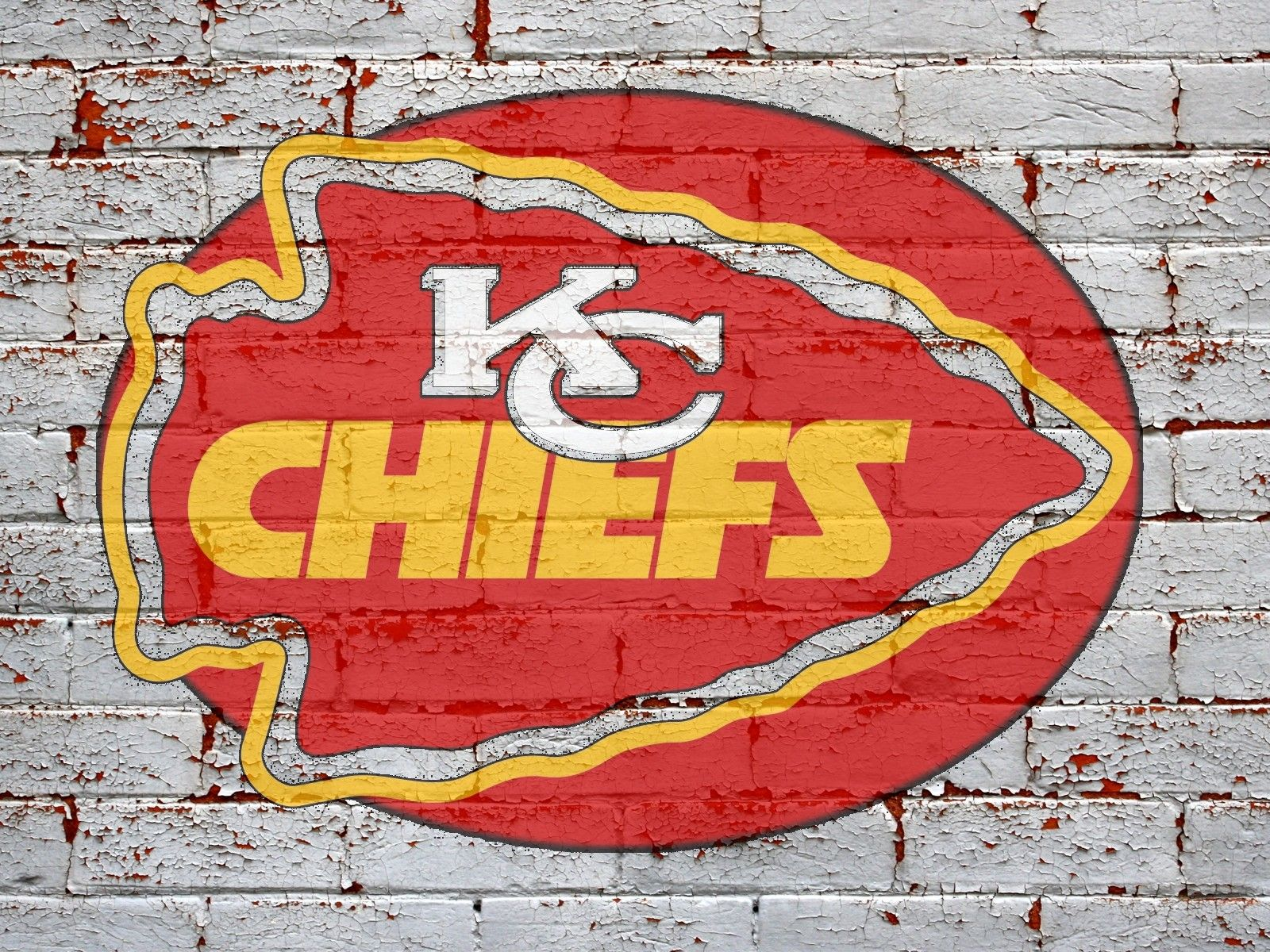 Kc Logo On Brick Wall Chiefs Wallpaper Kansas City Chiefs Logo Chiefs Logo