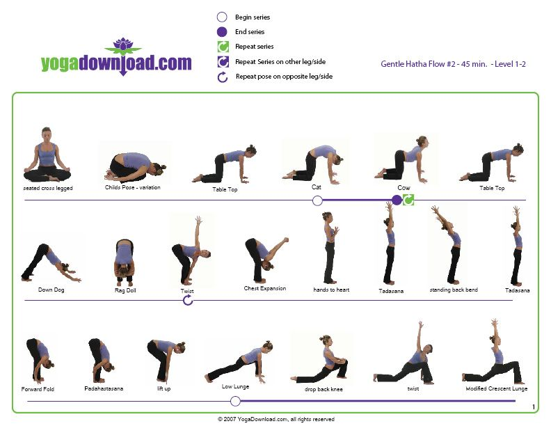 5 Downloadable Yoga Pose Sequences For All Levels Basic Yoga Poses Basic Yoga Yoga Poses Chart