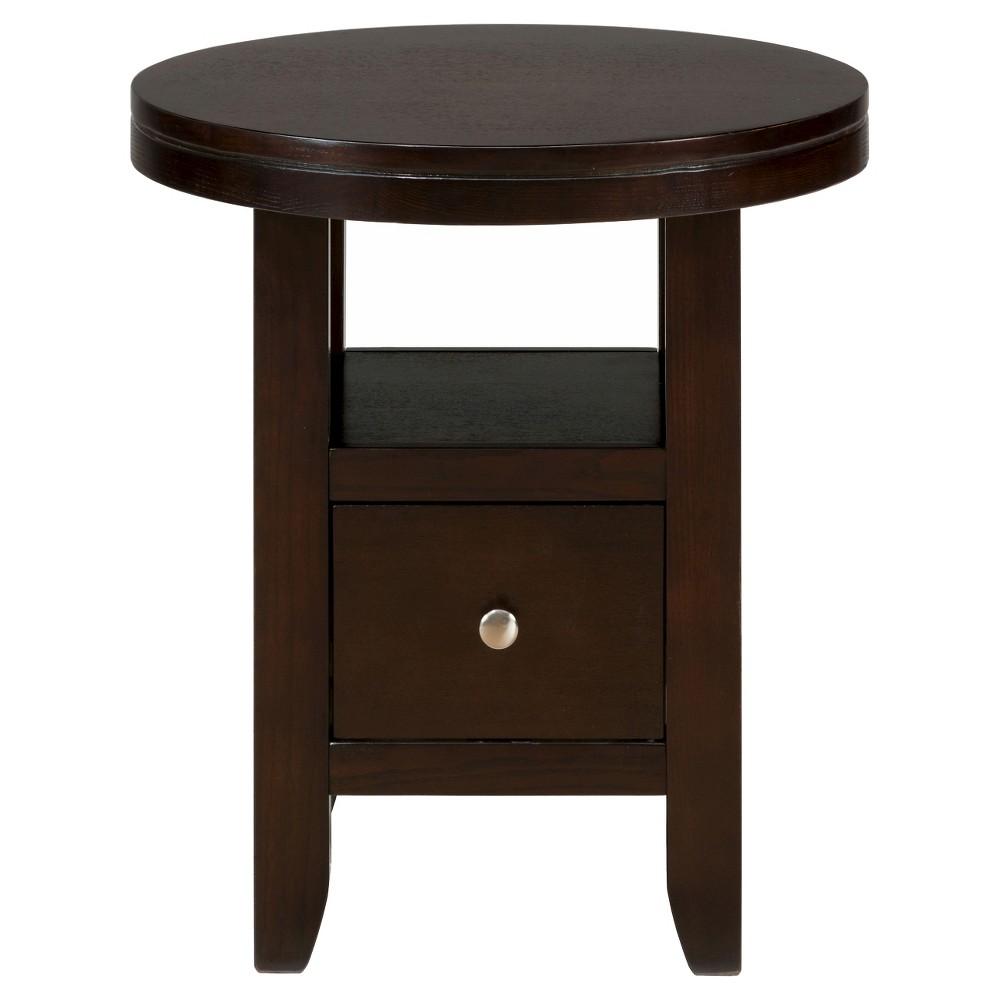 Marlon Round Chairside Table Brown - Jofran Inc.