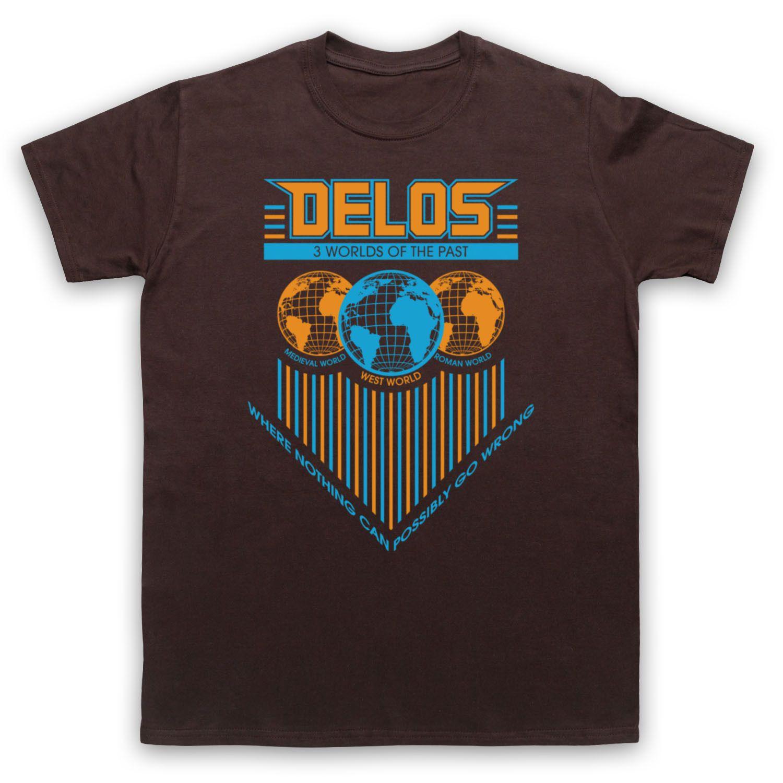 Delos westworld retro sci fi unofficial tshirt mens
