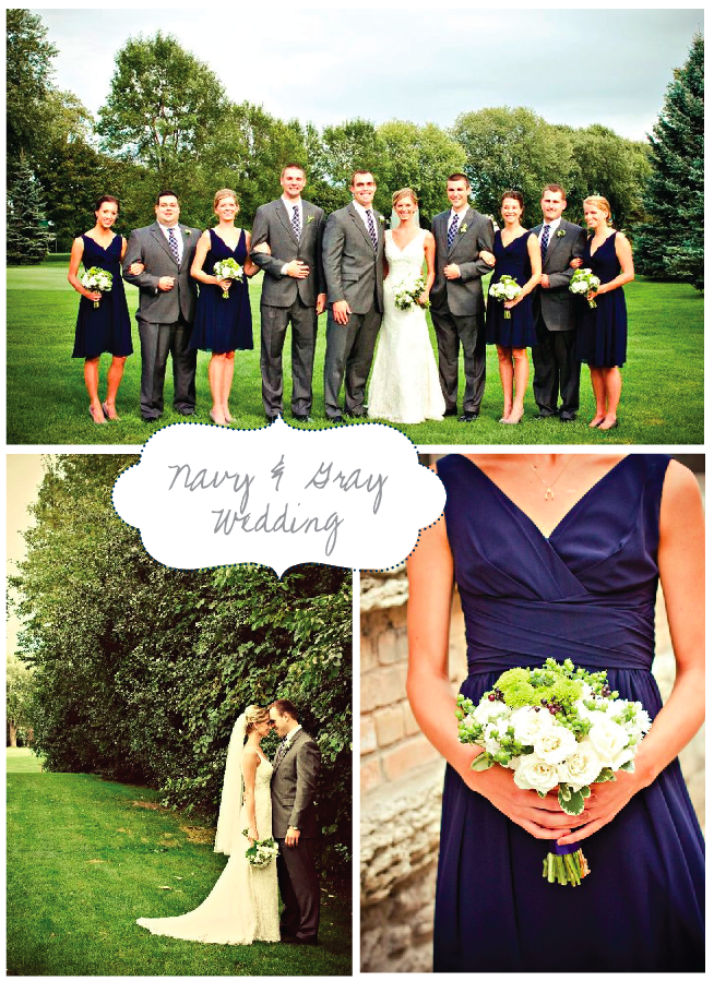 navy and gray add some yellow and orange wedding pinterest
