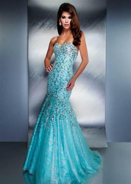 Aqua Mermaid Gown