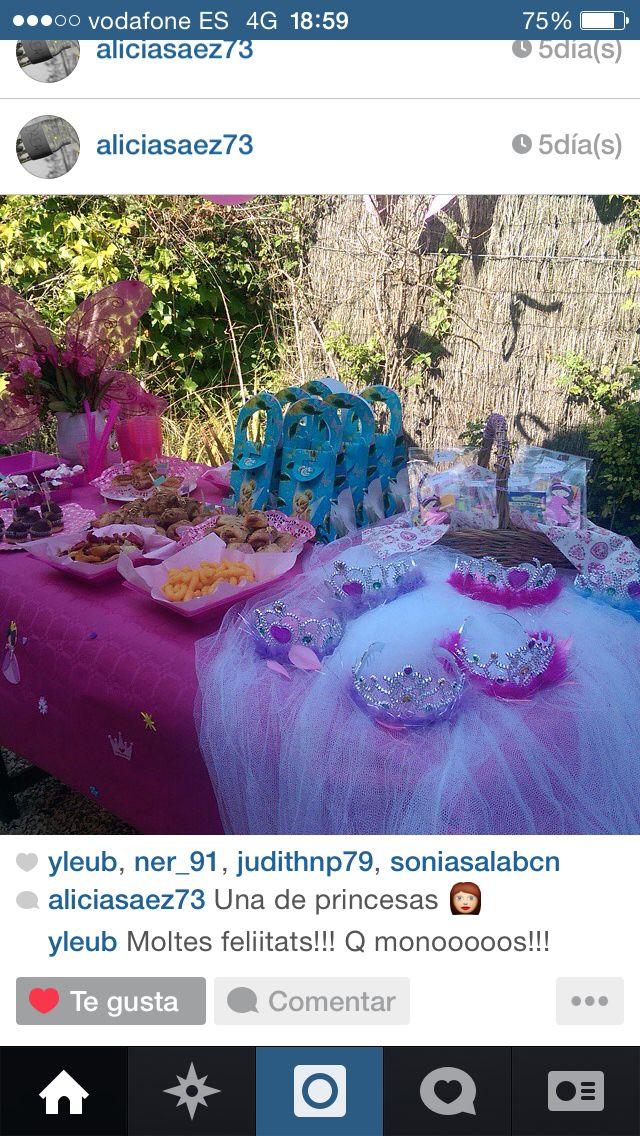 Decoración fiesta princesas!!