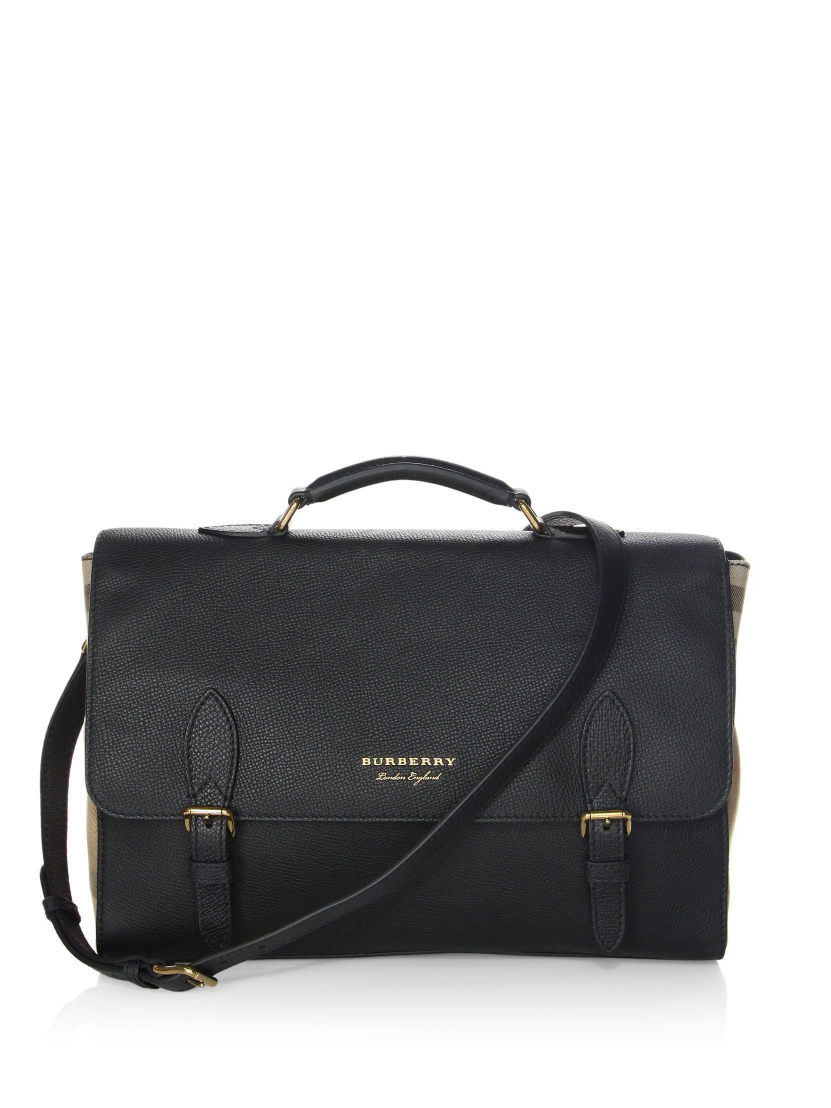 Burberry Ethan Leather Messenger Bag  6d8d8206147ea