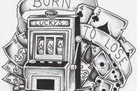 Slot machine tattoo designs