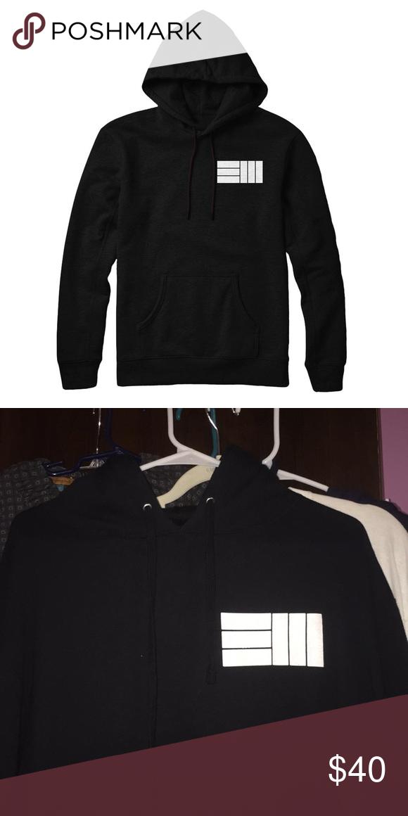 34ce089c55ab EM logo black hoodie Russ merchandise EM black logo hoodie unisex woman or  man could wear brand new never worn Sweaters