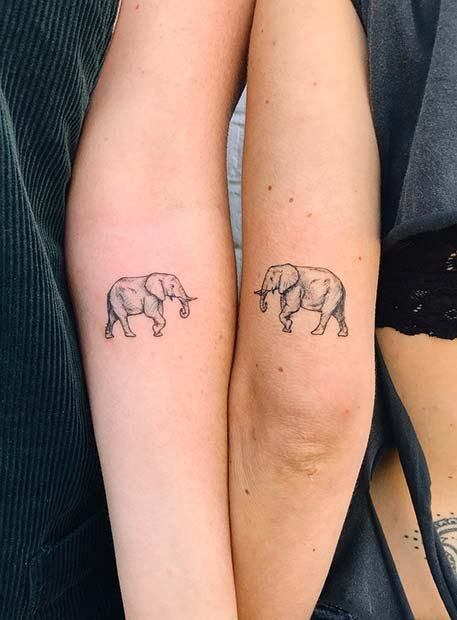 17 matching tattoo elephant