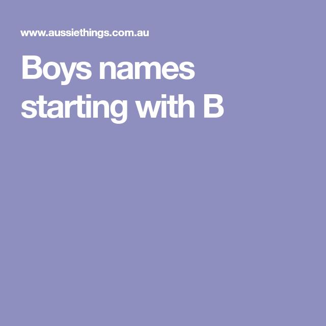 46+ Baby names boy starting b info