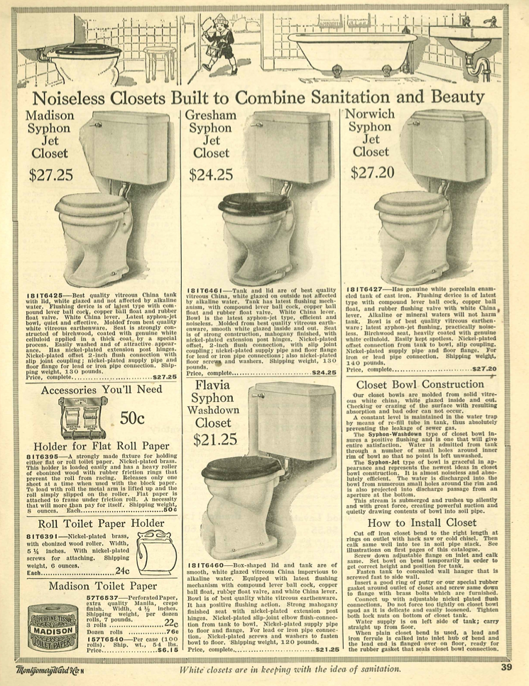 Toilets From 1910 Wards Catalog In 2019 Craftsman