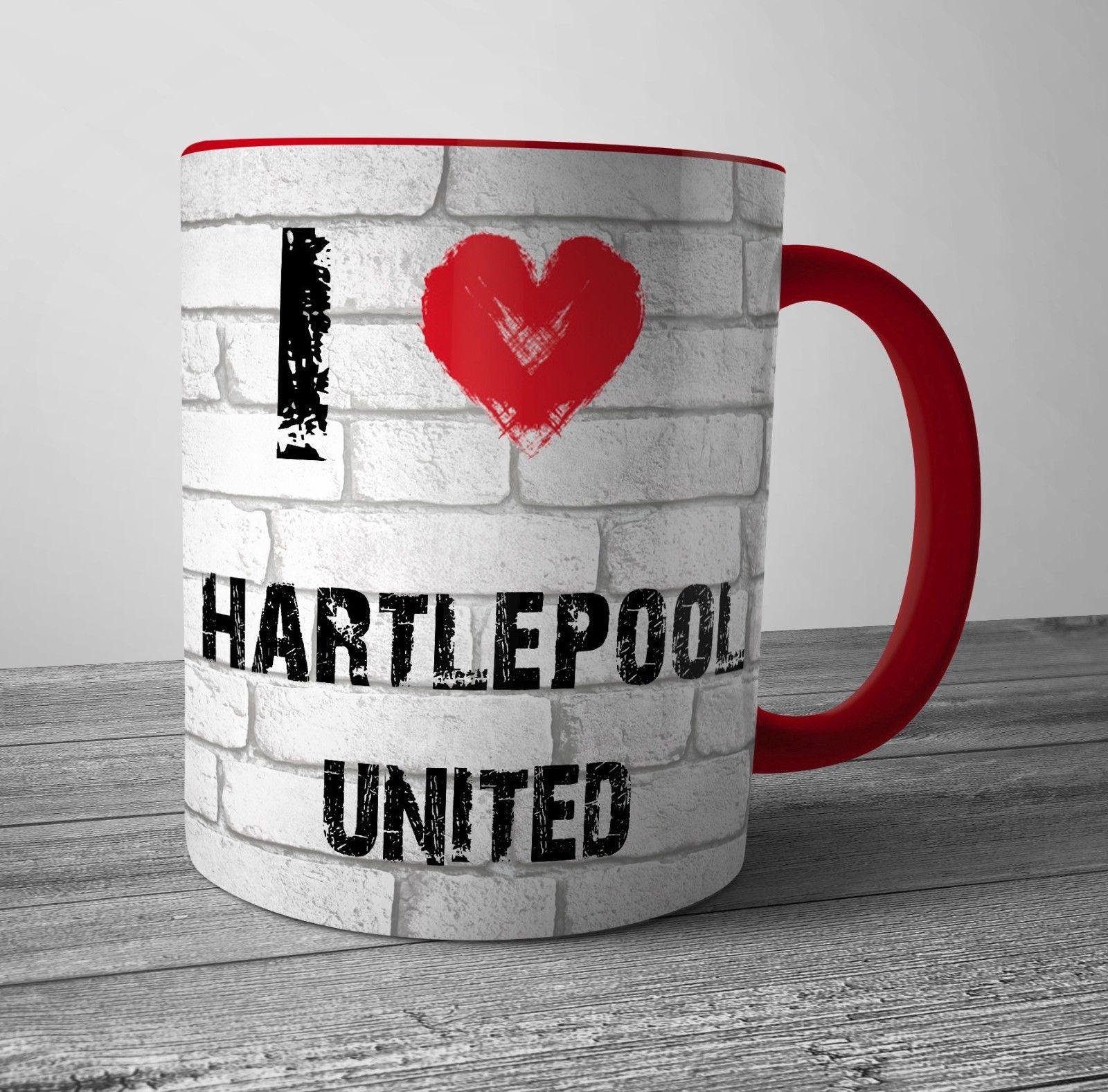 I Love Hartlepool United Mug Tea Coffee Cup Fun Birthday