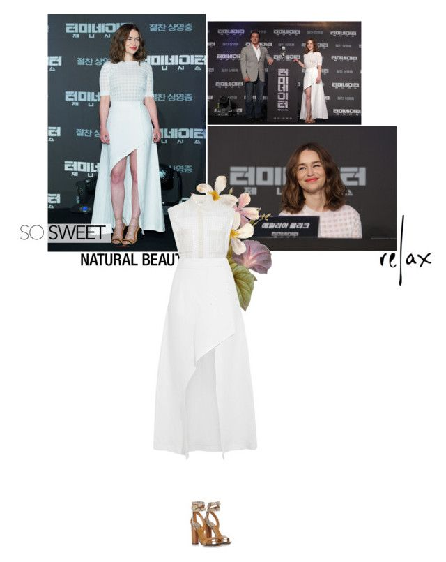 """""""Style Inspiration: Emilia Clarke"""" by jesssilva ❤ liked on Polyvore featuring Isa Arfen and Gucci"""