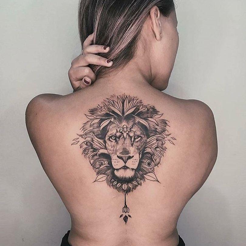 Feminine Lion Tattoo Design Back Tattoo Sleeve Tattoos Sleeve Tattoos For Women