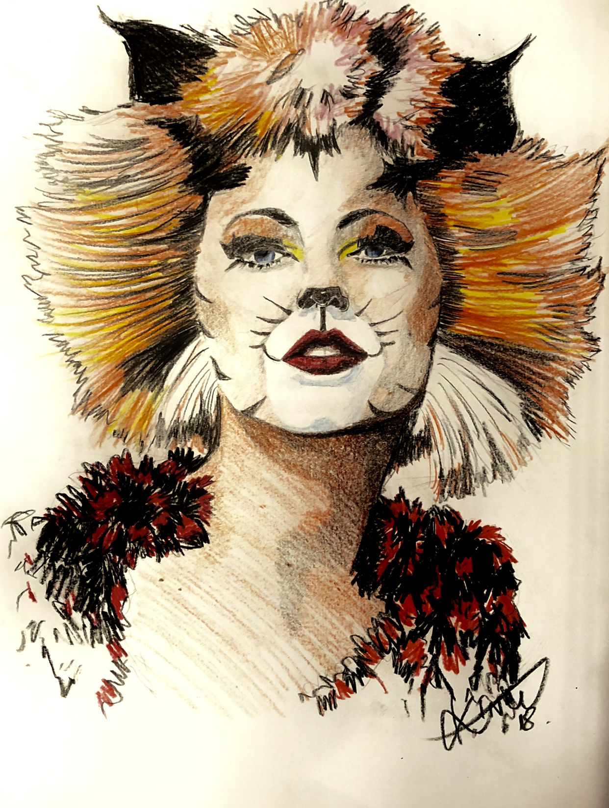 A2 Drawing Color Pencils Taylor swift cat, Taylor swift
