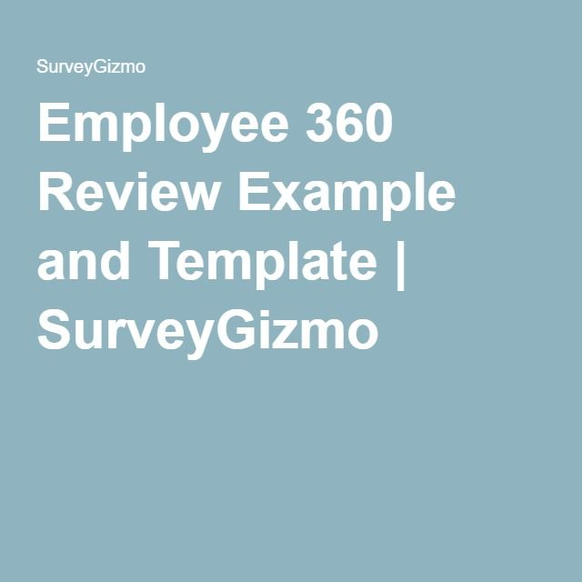 Employee  Review Example And Template  Surveygizmo  Hr
