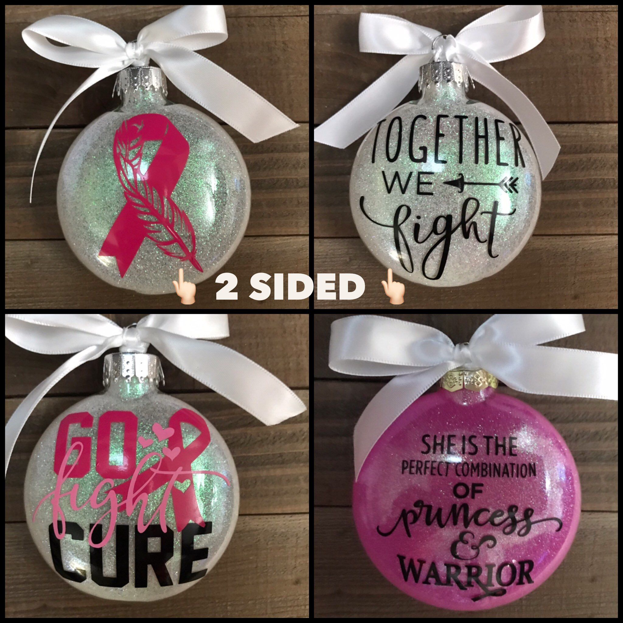 Excited to share this item from my #etsy shop: Breast Cancer , glass ornament, ornament, survivor, Christmas, Cancer survivor #pink #fight #cure #personalized #customized #christmas #ornaments #breastcancer #cancer #survivor #health #ornament #christmas