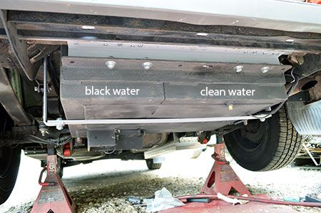 Note Custom Coated Aluminum Water Tanks In The Rear Where The