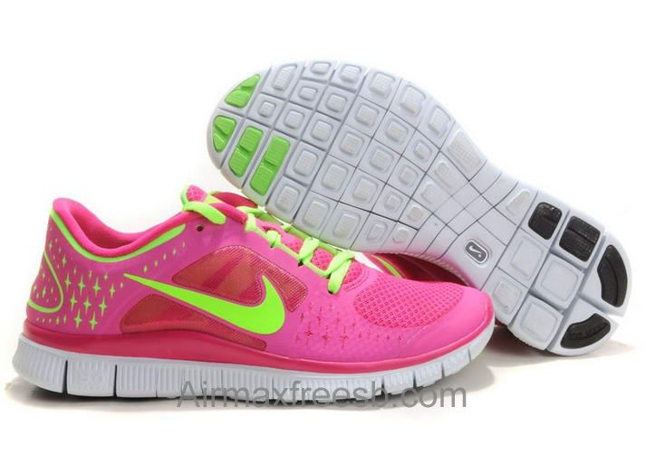 brand new 87226 b395b Nike Free Run 3 Women s Running Shoe Rose-bengal Volt Green For Sale