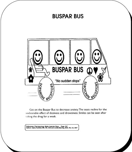 Buspar Bus | Nursing Pharm | Psychiatric nurse practitioner