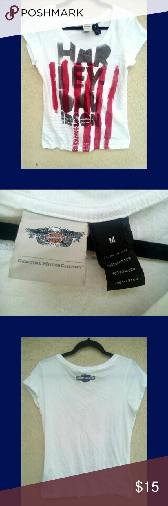 Genuine Harley Davidson Patriotic Graphic Tee Graphic Tees Harley Davidson Clothes Design