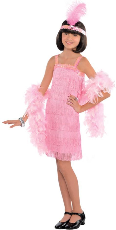 girls pink flapper costume party city - Pageant Girl Halloween Costume