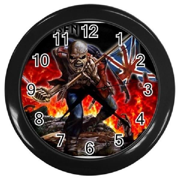 Iron Maiden 10 Inch Round Wall Clock Black Room Decor Collector Gift New Round Wall Clocks Clock Wall Clock