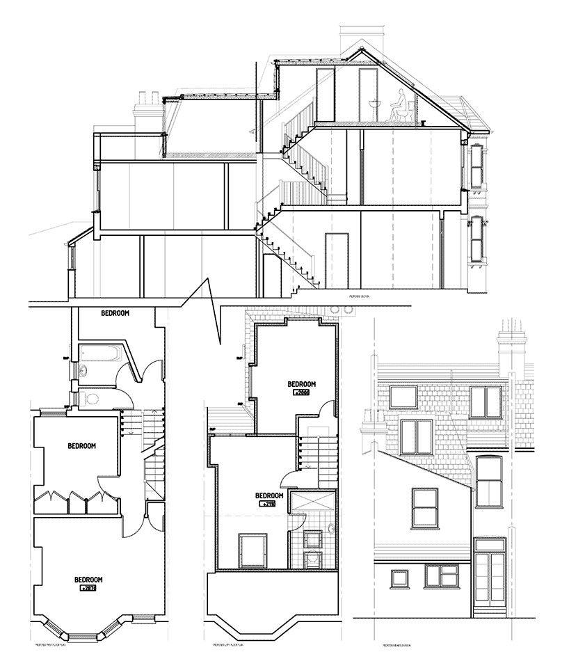 Victorian Shape Mansard Right Loft Conversions Extensions Regarding Classic London House Floor Plan House Floor Plans Loft Conversion Loft Conversion Extension