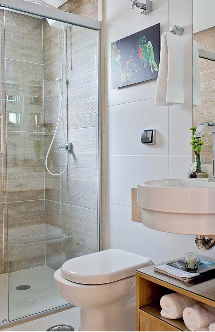 Box De Banheiro Com Porcelanato De Madeira Banheiro Pequeno