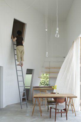 Maison pour fou de grimpe et d'aventure ! top !  House in Izumi-Ohmiya   Osaka, Japan   A project by: Tato Architects / You
