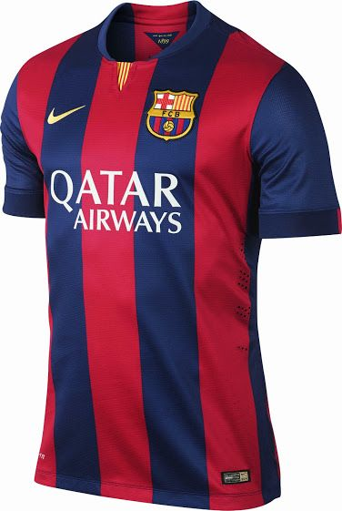 FC Barcelona 14-15 (2014-15) Home and Away Kits - Footy Headlines ... 6b0dde306c01e