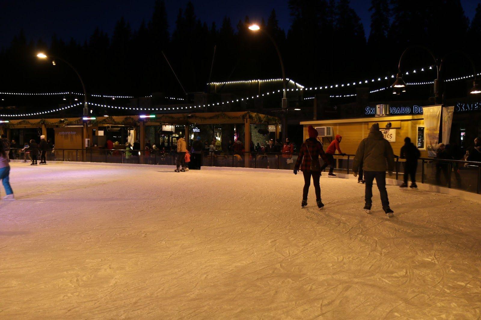 Ice skating at North Star Ski Resort. Fun for the whole family! Tahoe USA Day 21 | Ice Skating