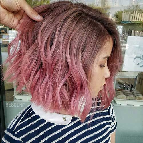 Short Hairstyless Com Pink Ombre Short Hair Short Ombre Hair Hair Styles Pink Ombre Hair