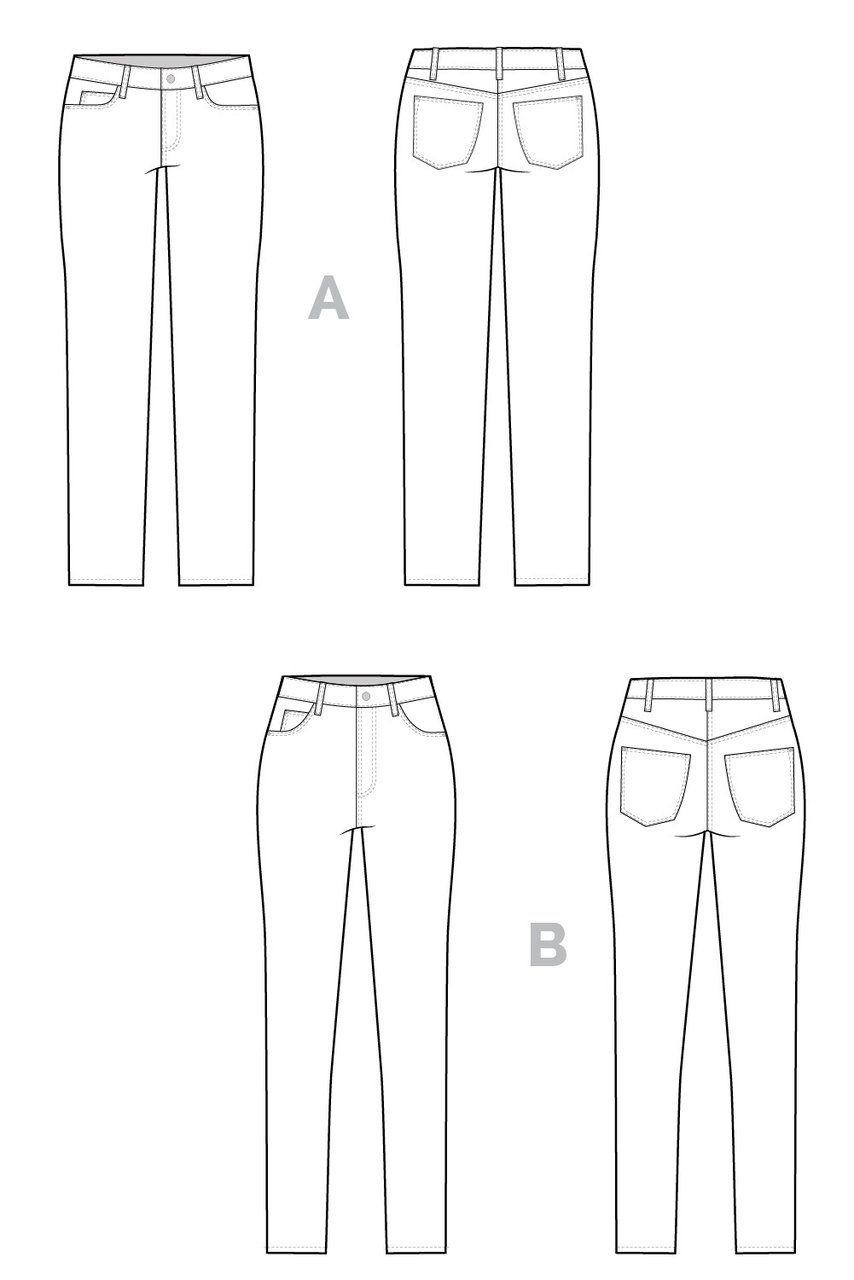 dfc6f1a2fd Ginger Skinny Jeans pattern    Technical flats    Closet Case Patterns This  is the base pattern for the flare add-on