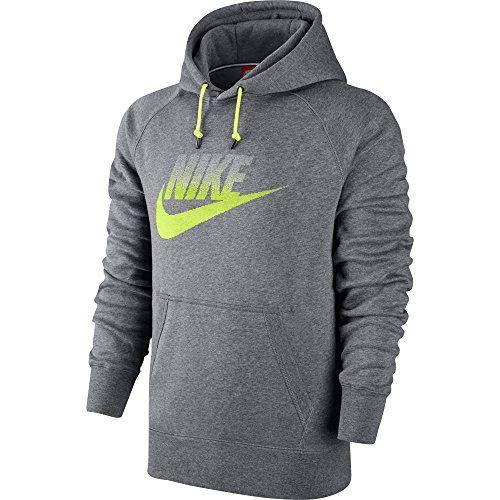 Mens Nike Aw77 Fleece Carbon Heather Hoodie