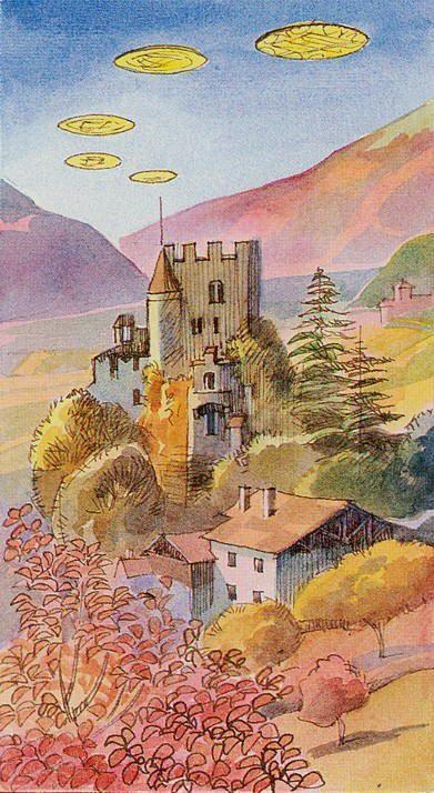 Five of Pentacles - Tarot Card (Scheiben 5)