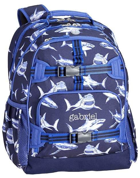 507ce98d77a1 Pottery Barn Kids Mackenzie Navy Shark Backpacks Blue Shark