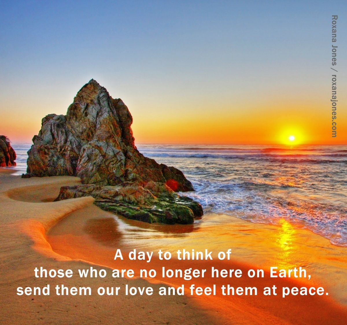 Inspirational Quote All Souls Day Is Sunrise Beach Beach Print Sunrise