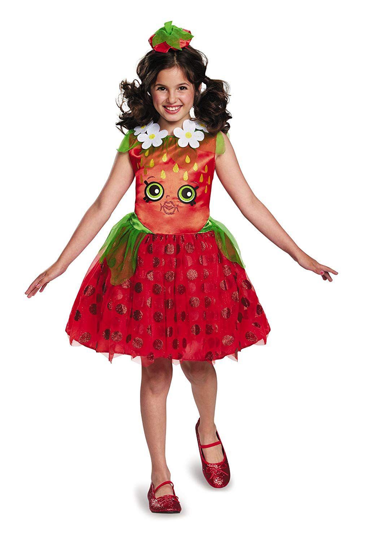 Cute Shopkins Girls Strawberry Kiss Halloween Costume For Everyone