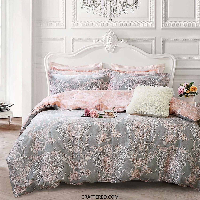 3pc Queen Colorblock Lena Reversible Comforter Set Gray Pink Marble Hill Comforter Sets Queen Comforter Sets Comforters