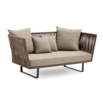 Gartensofa ikea  Bitta Braided Modern Outdoor Love Seat